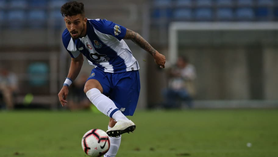 FARO, PORTUGAL - JULY 20:  FC Porto defender Alex Telles from Brazil in action during the Algarve Cup match between FC Porto and LOSC Lille at Estadio Algarve on July 20, 2018 in Faro, Portugal.  (Photo by Gualter Fatia/Getty Images)