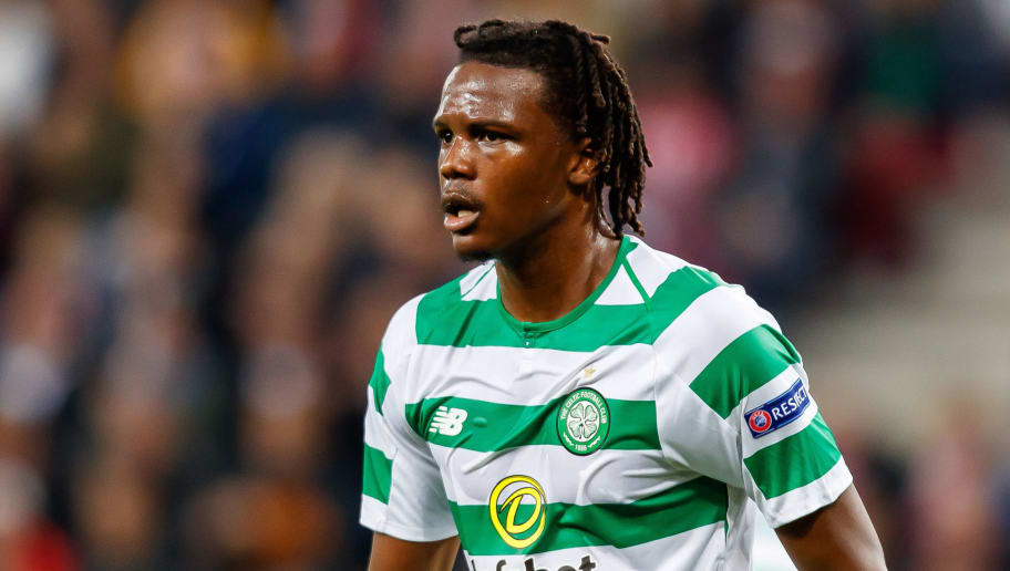 SALZBURG, AUSTRIA - OCTOBER 04: Dedryck Boyata of Celtic looks on during the UEFA Europa League Group B match between FC Salzburg and Celtic at Red Bull Arena Wals-Siezenheim on October 4, 2018 in Salzburg, Austria. (Photo by TF-Images/Getty Images)