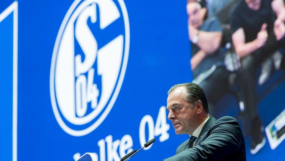 GELSENKIRCHEN, GERMANY - JUNE 03: Clemens Toennies during the FC Schalke 04 general assembly at Veltins Arena on June 3, 2018 in Gelsenkirchen, Germany. (Photo by TF-Images/Getty Images)