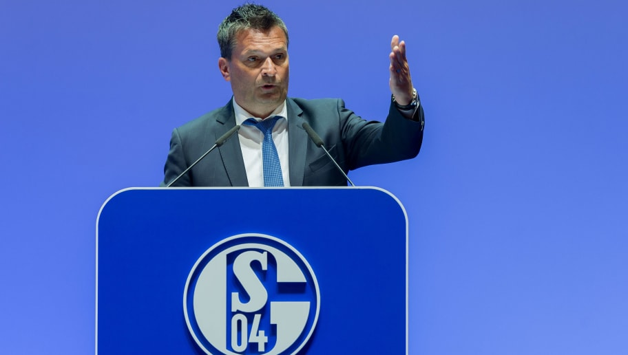 GELSENKIRCHEN, GERMANY - JUNE 03: Manager Christian Heidel during the FC Schalke 04 general assembly at Veltins Arena on June 3, 2018 in Gelsenkirchen, Germany. (Photo by TF-Images/Getty Images)