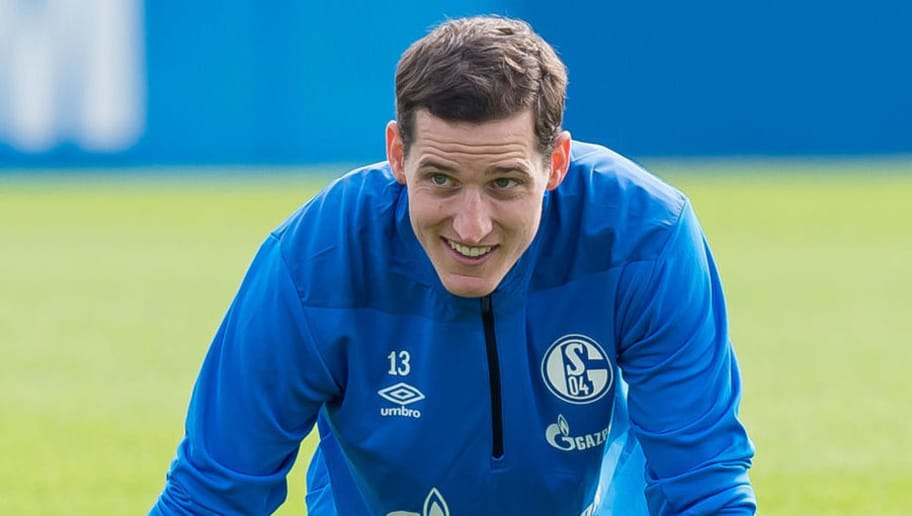 GELSENKIRCHEN, GERMANY - AUGUST 28: Sebastian Rudy of Schalke looks on during the FC Schalke 04 training session on August 28, 2018 in Gelsenkirchen, Germany. (Photo by TF-Images/Getty Images)