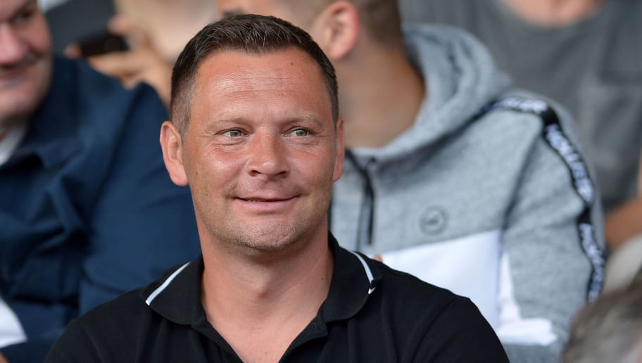 OBERHAUSEN, GERMANY - MAY 27: Head coach Pal Dardai of Hertha looks on during the German A Juniors Championship final match between FC Schalke 04 U19 and Hertha BSC U19 at Stadion Niederrhein on May 27, 2018 in Oberhausen, Germany. (Photo by TF-Images/Getty Images)