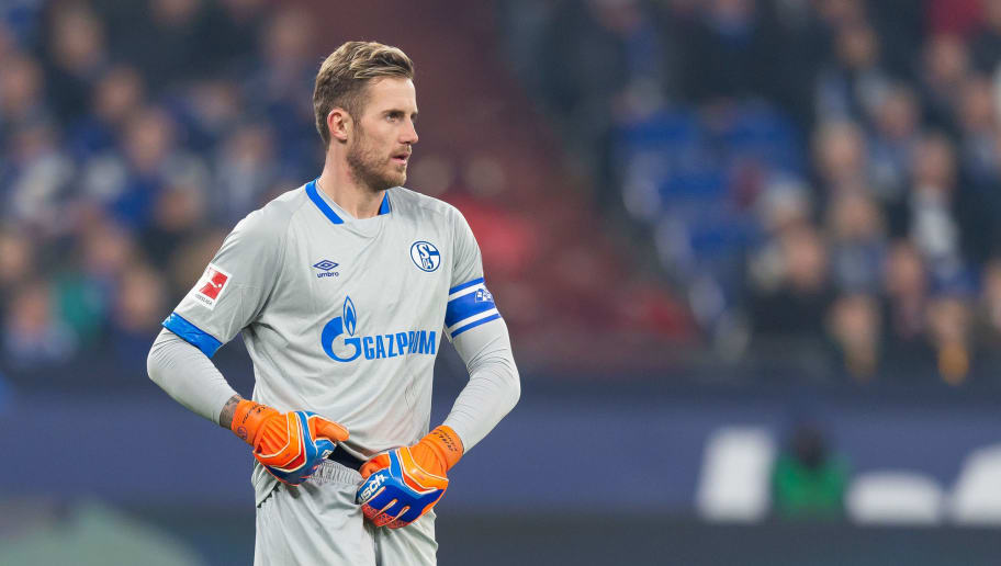 GELSENKIRCHEN, GERMANY - NOVEMBER 24: Goalkeeper Ralf Faehrmann of Schalke looks on during the Bundesliga match between FC Schalke 04 and 1. FC Nuernberg at Veltins-Arena on November 24, 2018 in Gelsenkirchen, Germany. (Photo by TF-Images/Getty Images)