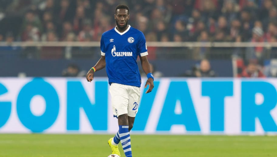 GELSENKIRCHEN, GERMANY - NOVEMBER 24: Salif Sane of Schalke controls the ball during the Bundesliga match between FC Schalke 04 and 1. FC Nuernberg at Veltins-Arena on November 24, 2018 in Gelsenkirchen, Germany. (Photo by TF-Images/Getty Images)