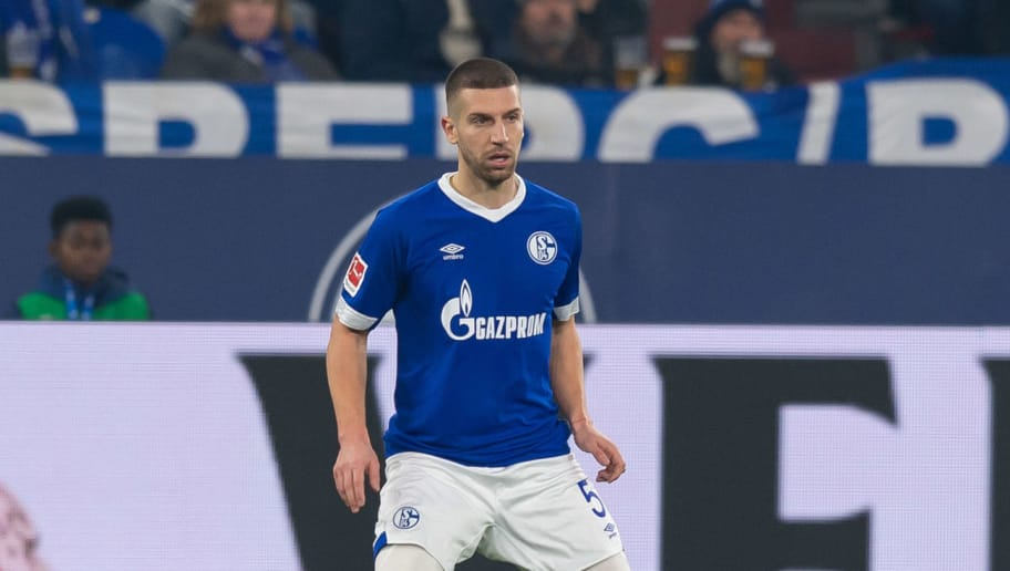 GELSENKIRCHEN, GERMANY - NOVEMBER 24: Matija Nastasic of Schalke controls the ball during the Bundesliga match between FC Schalke 04 and 1. FC Nuernberg at Veltins-Arena on November 24, 2018 in Gelsenkirchen, Germany. (Photo by TF-Images/Getty Images)