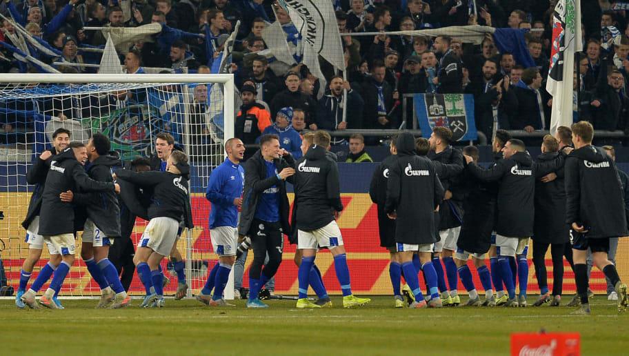 Jubel Spieler Schalke