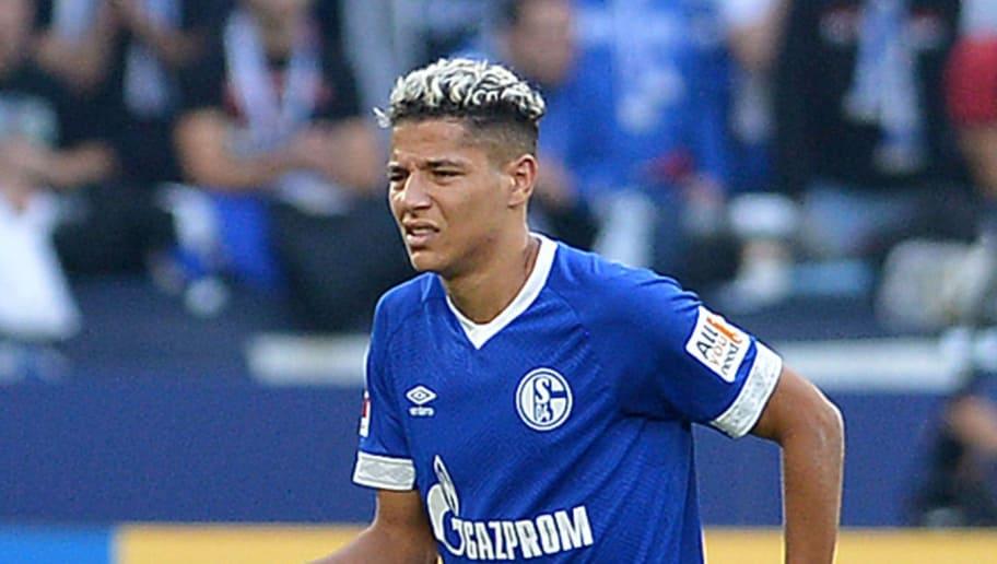 GELSENKIRCHEN, GERMANY - SEPTEMBER 29: Amine Harit of Schalke is injured during the Bundesliga match between FC Schalke 04 and 1. FSV Mainz 05 at Veltins-Arena on September 29, 2018 in Gelsenkirchen, Germany. (Photo by TF-Images/Getty Images)