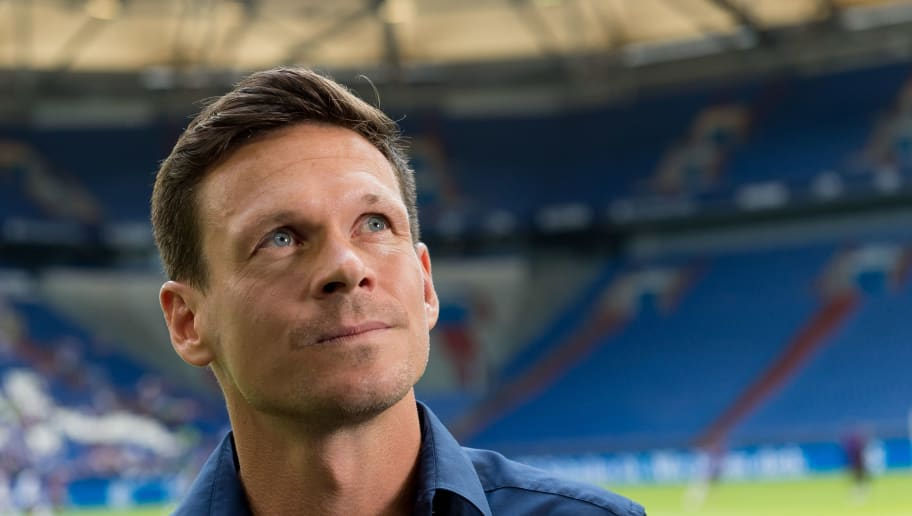 GELSENKIRCHEN, GERMANY - AUGUST 11: Sascha Riether of Schalke looks on during the friendly match between FC Schalke 04 and AFC Fiorentina at Veltins Arena on August 11, 2018 in Gelsenkirchen, Germany. (Photo by TF-Images/Getty Images)