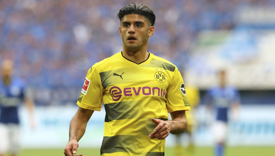 GELSENKIRCHEN, GERMANY - APRIL 15: Mahmoud Dahoud of Dortmund looks on during the Bundesliga match between FC Schalke 04 and Borussia Dortmund at Veltins-Arena on April 15, 2018 in Gelsenkirchen, Germany. (Photo by TF-Images/Getty Images)