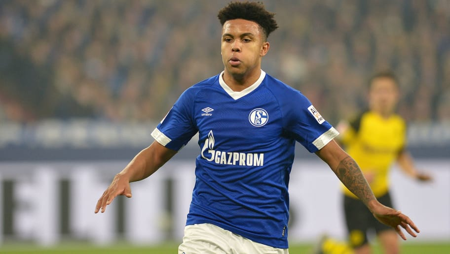 GELSENKIRCHEN, GERMANY - DECEMBER 08: Weston McKennie of Schalke gestures during the Bundesliga match between FC Schalke 04 and Borussia Dortmund at Veltins-Arena on December 8, 2018 in Gelsenkirchen, Germany. (Photo by TF-Images/TF-Images via Getty Images)