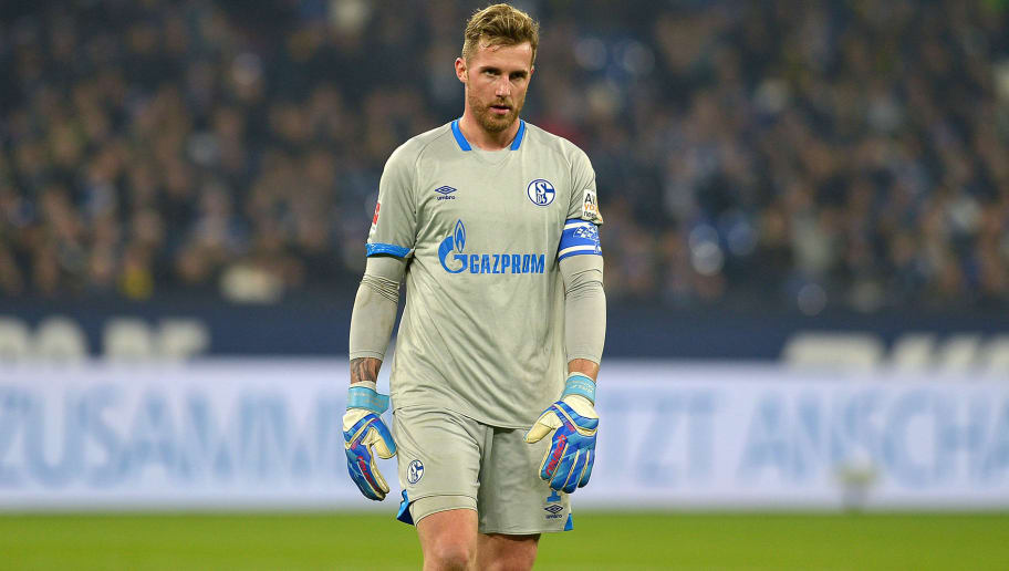 GELSENKIRCHEN, GERMANY - DECEMBER 08: Goalkeeper Ralf Faehrmann of Schalke looks on during the Bundesliga match between FC Schalke 04 and Borussia Dortmund at Veltins-Arena on December 8, 2018 in Gelsenkirchen, Germany. (Photo by TF-Images/TF-Images via Getty Images)