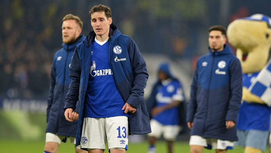 GELSENKIRCHEN, GERMANY - DECEMBER 08: Sebastian Rudy of Schalke looks dejected during the Bundesliga match between FC Schalke 04 and Borussia Dortmund at Veltins-Arena on December 8, 2018 in Gelsenkirchen, Germany. (Photo by TF-Images/TF-Images via Getty Images)