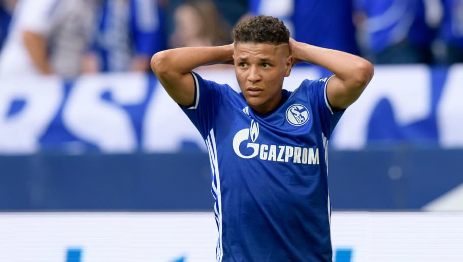 GELSENKIRCHEN, GERMANY - May 12: Amine Harit of Schalke looks on during the Bundesliga match between FC Schalke 04 and Eintracht Frankfurt at Veltins Arena on May 12, 2018 in Gelsenkirchen, Germany. (Photo by TF-Images/Getty Images)