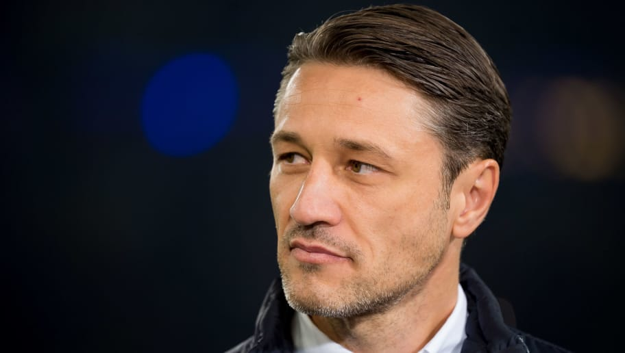 GELSENKIRCHEN, GERMANY - SEPTEMBER 22: Head coach Niko Kovac of Bayern Muenchen looks on prior to the Bundesliga match between FC Schalke 04 and FC Bayern Muenchen at Veltins-Arena on September 22, 2018 in Gelsenkirchen, Germany. (Photo by TF-Images/Getty Images)