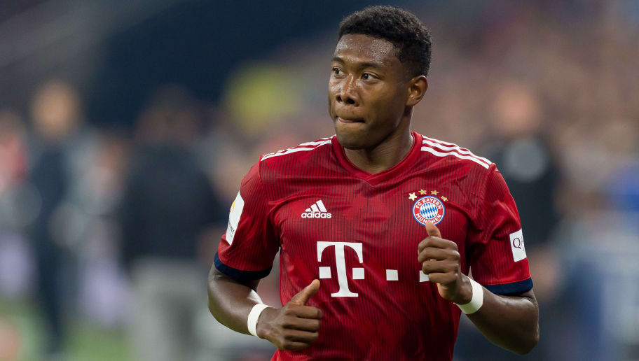 GELSENKIRCHEN, GERMANY - SEPTEMBER 22: David Alaba of Bayern Muenchen looks on during the Bundesliga match between FC Schalke 04 and FC Bayern Muenchen at Veltins-Arena on September 22, 2018 in Gelsenkirchen, Germany. (Photo by TF-Images/Getty Images)