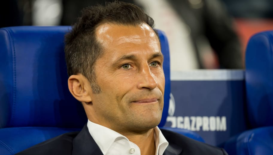 GELSENKIRCHEN, GERMANY - SEPTEMBER 22: Sporting director Hasan Salihamidzic of Bayern Muenchen looks on prior to the Bundesliga match between FC Schalke 04 and FC Bayern Muenchen at Veltins-Arena on September 22, 2018 in Gelsenkirchen, Germany. (Photo by TF-Images/Getty Images)