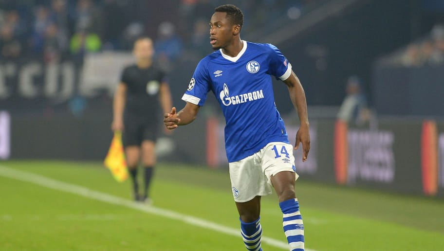 GELSENKIRCHEN, GERMANY - DECEMBER 11: Abdul Rahman Baba of Schalke controls the ball during the UEFA Champions League Group D match between FC Schalke 04 and FC Lokomotiv Moscow at Veltins-Arena on December 11, 2018 in Gelsenkirchen, Germany. (Photo by TF-Images/TF-Images via Getty Images)