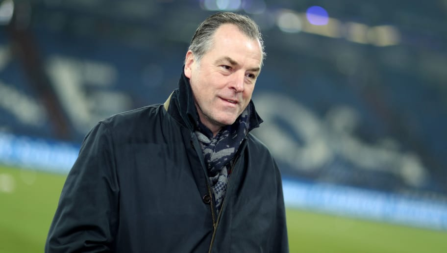 GELSENKIRCHEN, GERMANY - MARCH 03: Clemens Toennies, chairman of the board of Schalke during the Bundesliga match between FC Schalke 04 and Hertha BSC at Veltins-Arena on March 3, 2018 in Gelsenkirchen, Germany. (Photo by Christof Koepsel/Bongarts/Getty Images)