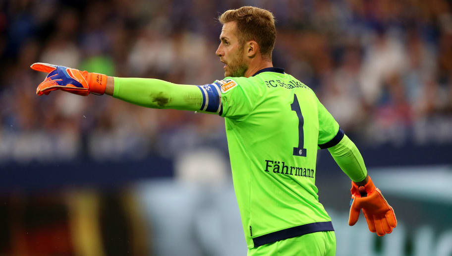 GELSENKIRCHEN, GERMANY - SEPTEMBER 02: Ralf Faehrmann of Schalke issues instructions during the Bundesliga match between FC Schalke 04 and Hertha BSC at Veltins-Arena on September 2, 2018 in Gelsenkirchen, Germany. (Photo by Christof Koepsel/Bongarts/Getty Images)