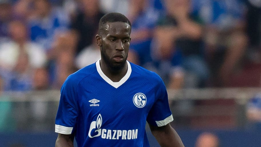 GELSENKIRCHEN, GERMANY - SEPTEMBER 02: Salif Sane of Schalke  controls the ball  during the Bundesliga match between FC Schalke 04 and Hertha BSC at Veltins-Arena on September 2, 2018 in Gelsenkirchen, Germany. (Photo by TF-Images/Getty Images)