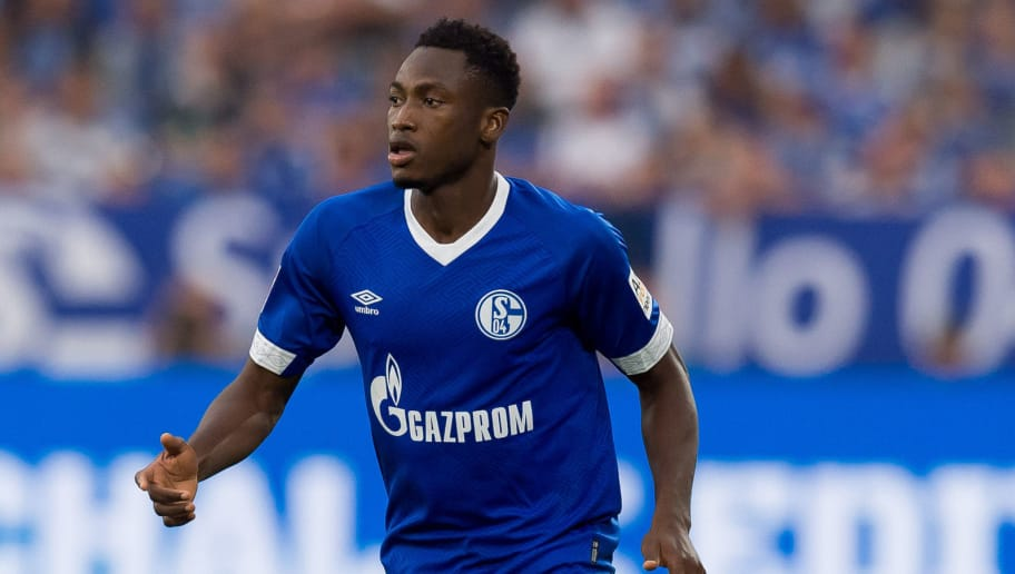 GELSENKIRCHEN, GERMANY - SEPTEMBER 02: Abdul Rahman Baba of Schalke  controls the ball  during the Bundesliga match between FC Schalke 04 and Hertha BSC at Veltins-Arena on September 2, 2018 in Gelsenkirchen, Germany. (Photo by TF-Images/Getty Images)