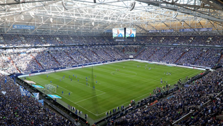 GELSENKIRCHEN, GERMANY - SEPTEMBER 02: General view of the Veltins Arena prior to the Bundesliga match between FC Schalke 04 and Hertha BSC at Veltins-Arena on September 2, 2018 in Gelsenkirchen, Germany. (Photo by Christof Koepsel/Bongarts/Getty Images)