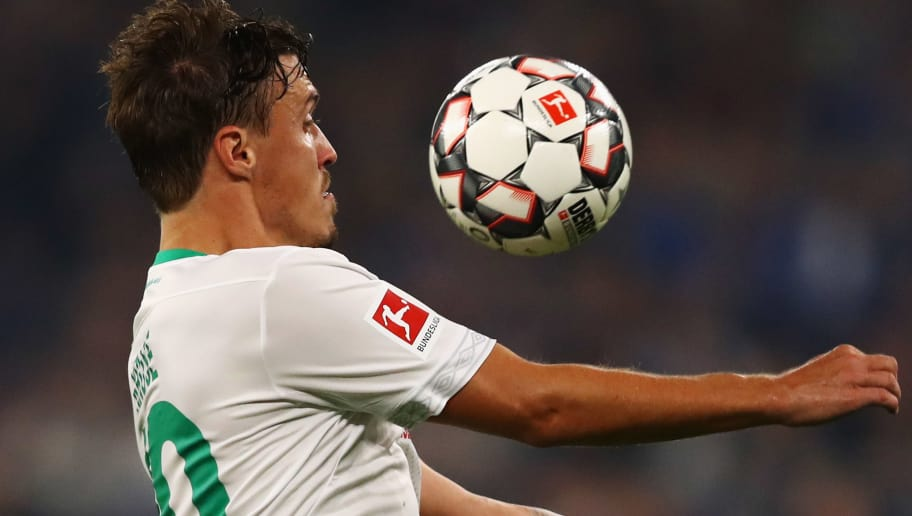 GELSENKIRCHEN, GERMANY - OCTOBER 20:  Max Kruse of Werder Bremen in action during the Bundesliga match between FC Schalke 04 and SV Werder Bremen at Veltins-Arena on October 20, 2018 in Gelsenkirchen, Germany.  (Photo by Dean Mouhtaropoulos/Bongarts/Getty Images)