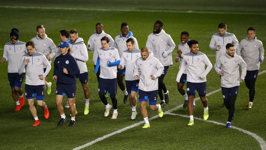 FC Schalke Training Session and Press Conference