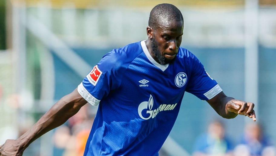 MITTERSILL, AUSTRIA - AUGUST 05: Salif Sane of Schalke controls the ball during the friendly match between FC Schalke and SCO Angers at Waldstadion on August 5, 2018 in Mittersill, Austria. (Photo by TF-Images/Getty Images)