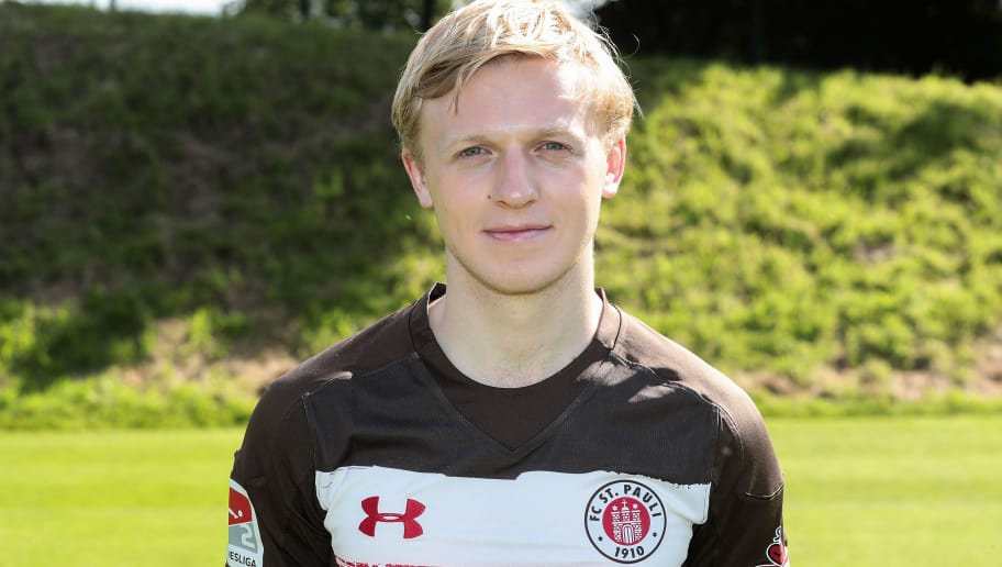 HAMBURG, GERMANY - JULY 06:  Mats Moller Daehli of FC St. Pauli poses during the team presentation at  on July 6, 2017 in Hamburg, Germany.  (Photo by Oliver Hardt/Bongarts/Getty Images)