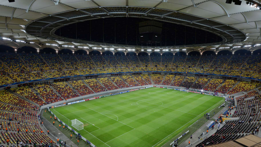 BUCHAREST,ROMANIA - AUGUST 19: A general view of the pitch at the Arena Nationala during the UEFA Champions League first leg play-off match against between FC Steaua Bucuresti  and PFC Ludogorets Razgrad on August 19, 2014 in Bucharest,Romania . (Photo by Daniel Mihailescu/EuroFootball/Getty Images)