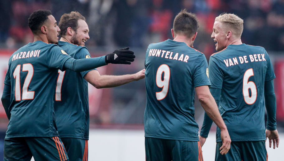 Daley Blind,Donny Van De Beek,Klaas Jan Huntelaar,Noussair Mazraoui