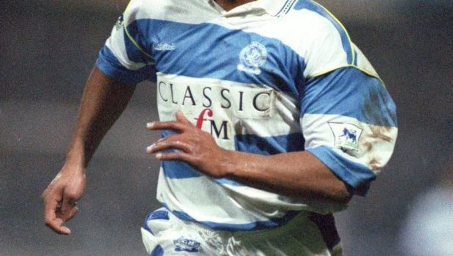 27 JAN 1993:  A PICTURE SHOWING LES FERDINAND OF QUEENS PARK RANGERS SOCCER CLUB IN ACTION Mandatory Credit: Howard Boylan/ALLSPORT
