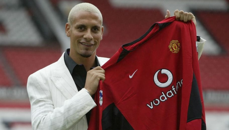 Ferdinand shows off shirt