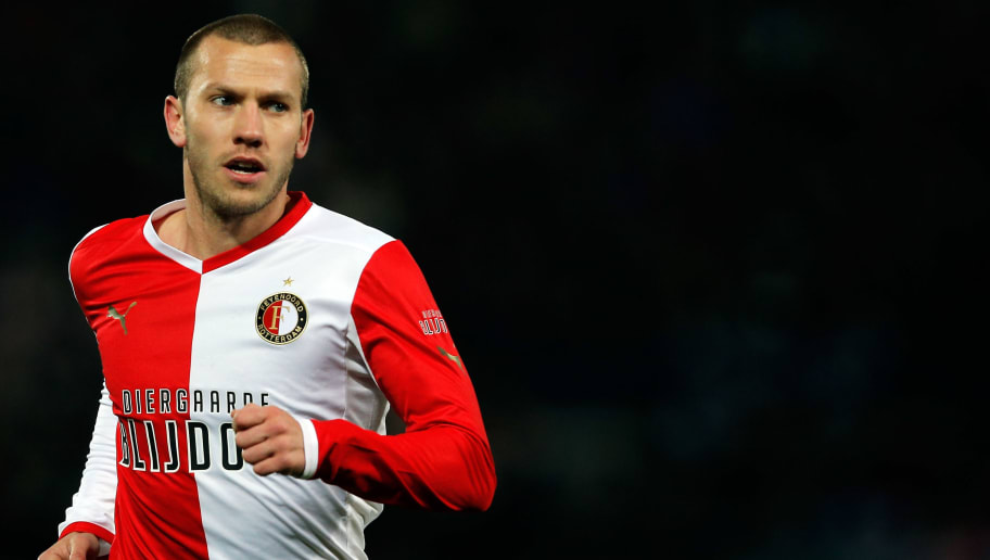 ROTTERDAM, NETHERLANDS - APRIL 05:  John Goossens of Feyenoord runs to take a corner during the Eredivisie match between Feyenoord and VVV Venlo at De Kuip on April 5, 2013 in Rotterdam, Netherlands.  (Photo by Dean Mouhtaropoulos/Getty Images)