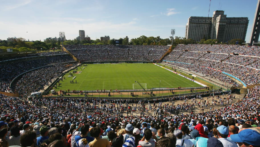MONTEVIDEO, URUGUAY - NOVEMBER 12:  A general view of the stadium prior to the FIFA 2006 World Cup Playoff between Uruguay and Australia at the Centenario Stadium November 12, 2005 in Montevideo, Uruguay.  (Photo by Robert Cianflone/Getty Images)