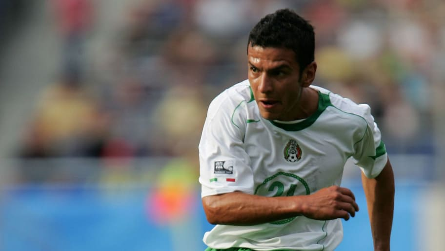 HANOVER, GERMANY - JUNE 16:  Jaime Lozano of Mexico in action during The FIFA Confederations Cup Match between Japan and Mexico at The AWD Arena on June 16, 2005 in Hanover, Germany.  (Photo by Stuart Franklin/Bongarts/Getty Images)