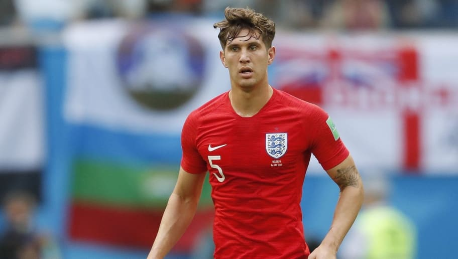 John Stones of England during the 2018 FIFA World Cup Play-off for third place match between Belgium and England at the Saint Petersburg Stadium on June 26, 2018 in Saint Petersburg, Russia(Photo by VI Images via Getty Images)