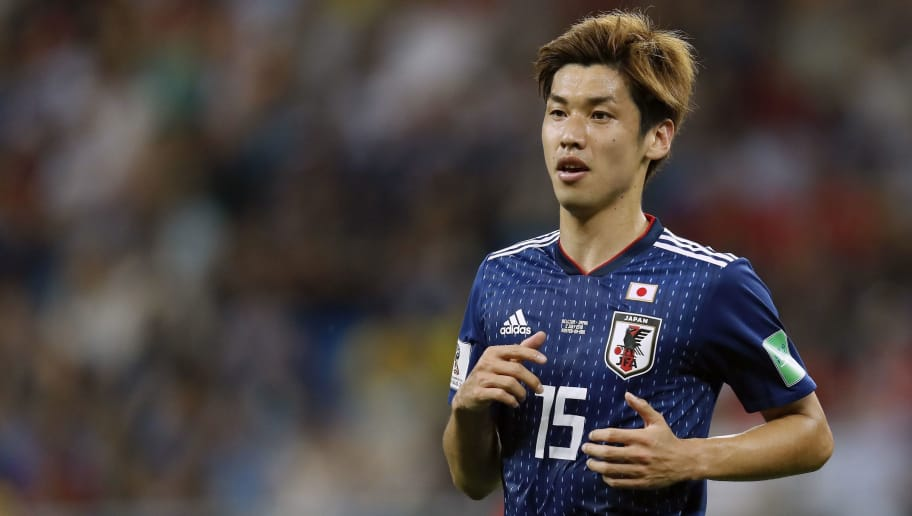 Yuya Osako of Japan during the 2018 FIFA World Cup Russia round of 16 match between Belgium and Japan at the Rostov Arena on July 02, 2018 in Rostov-On-Don, Russia(Photo by VI Images via Getty Images)