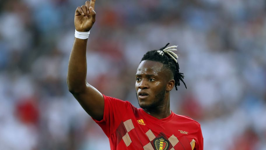 Michy Batshuayi of Belgium during the 2018 FIFA World Cup Russia group G match between England and Belgium at the Kalingrad stadium on June 28, 2018 in Kaliningrad, Russia(Photo by VI Images via Getty Images)