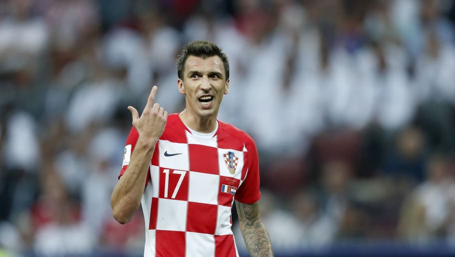 Mario Mandzukic of Croatia during the 2018 FIFA World Cup Russia Final match between France and Croatia at the Luzhniki Stadium on July 15, 2018 in Moscow, Russia(Photo by VI Images via Getty Images)