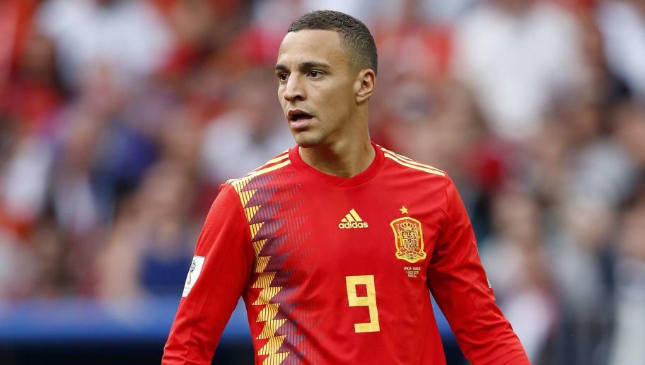 Rodrigo Moreno of Spain during the 2018 FIFA World Cup Russia round of 16 match between Spain and Russia at the Luzhniki Stadium on July 01, 2018 in Moscow, Russia(Photo by VI Images via Getty Images)