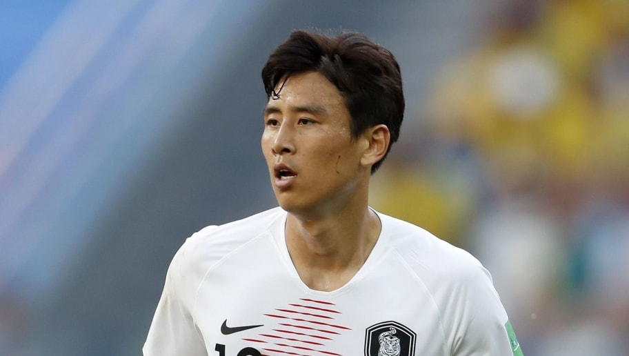 Jacheol Koo of Korea Republic during the 2018 FIFA World Cup Russia group F match between Sweden and Korea Republic at the Novgorod stadium on June 18, 2018 in Nizhny Novgorod, Russia(Photo by VI Images via Getty Images)
