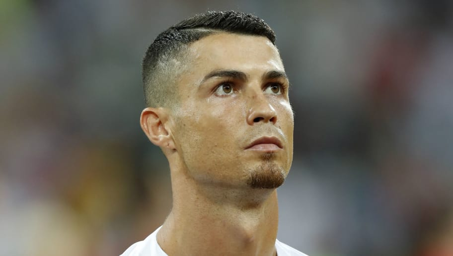 Cristiano Ronaldo of Portugal during the 2018 FIFA World Cup Russia round of 16 match between Uruguay and at the Fisht Stadium on June 30, 2018 in Sochi, Russia(Photo by VI Images via Getty Images)