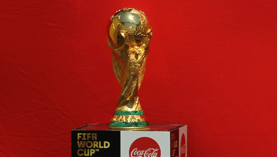 adfb73b8a The FIFA World Cup trophy is displayed upon arrival at Miguel Hidalgo  International Airport in Guadalajara