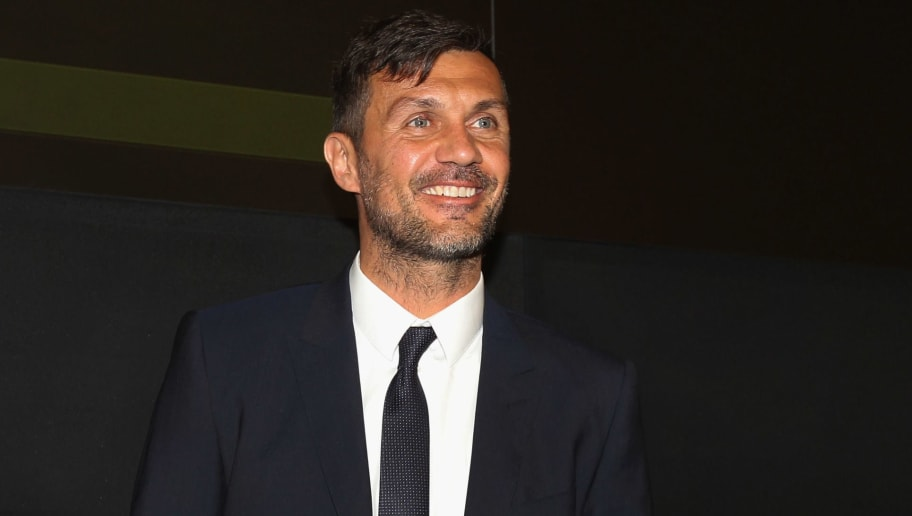 ROME, ITALY - MAY 18: AC Milan former player Paolo Maldini attends the Italian Football Federation (FIGC) press conference ' Il calcio Aiuta' on May 18, 2017 in Rome, Italy.  (Photo by Paolo Bruno/Getty Images)