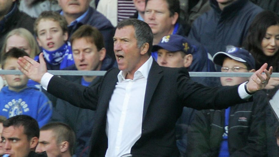 LONDON, United Kingdom:  (FILES) Newcastle manager Graeme Souness directs his players during a premiership match against Chelsea at Stamford Bridge in this 19 November 2005 file photo.  Graeme Souness's troubled 15-month reign as Newcastle manager came to an end on Thursday when the club terminated his contract with immediate effect. AFP PHOTO / ODD ANDERSEN  (Photo credit should read ODD ANDERSEN/AFP/Getty Images)