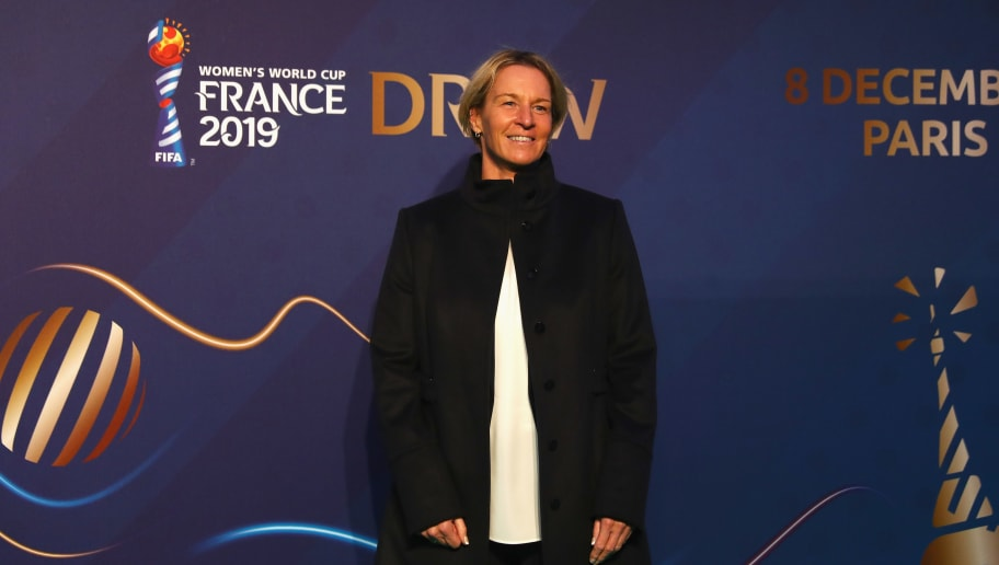 PARIS, FRANCE - DECEMBER 08: Martina Voss-Tecklenburg, coach of Germany arrives at the FIFA Women's World Cup France 2019 Draw at La Seine Musicale on December 8, 2018 in Paris, France.  (Photo by Dean Mouhtaropoulos/Getty Images)
