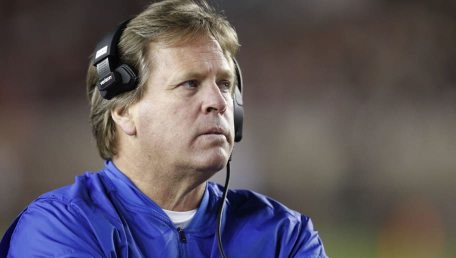 TALLAHASSEE, FL - NOVEMBER 26: Head coach Jim McElwain of the Florida Gators looks on during the game against the Florida State Seminoles at Doak Campbell Stadium on November 26, 2016 in Tallahassee, Florida. Florida State defeated Florida 31-13. (Photo by Joe Robbins/Getty Images)
