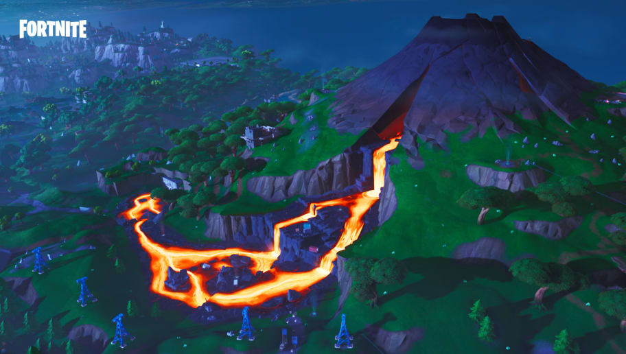 Fortnite Fortbyte 80 can be found at the top of the volcano. Here's how to collect it.